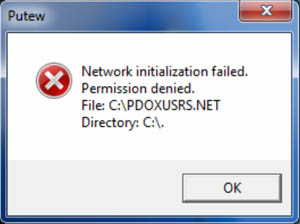 Network initialization failed.